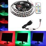 0.5M / 1M / 2M / 3M / 4M / 5M USB RGB 5050 Niet-waterdicht WS2812 LED-tv-striplamp + afstandsbedieningsset DC5V
