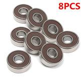 8pcs 608-2RS Bearings 8x22x7mm Bearings For Skateboard Deep Groove Ball Bearings