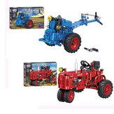 Classic Walking Tractor Car Model DIY Assembly Building Blocks Speelgoed voor kinderen Educatief