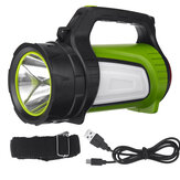 1500M 5000LM Ultra Bright Strong LED Searchlight USB Rechargeable 12000mAh Powerful Flashlight With Side Light & Tail Light Long-range Handheld Spotlight