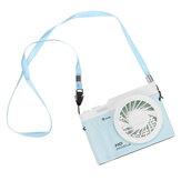 3 em 1 Ventilador de Colar Portátil de Suspensão 3 Velocidades LED Ventilador de Mesa Para Escola de Home Office