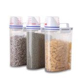 Keuken Voedsel Graangewas Bean Rijst Hand Met Meten Kopje Plastic Plastic Opslag Container