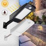 Solar Movimiento accionado Sensor 48 LED Farola Impermeable Adujustable Pared Lámpara para al aire libre Jardín