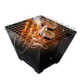 Açık BARBEKÜ Izgara Katlanır Kömür Fırını Kampçılık Piknik Fırın Paslanmaz Çelik Pişirme Ocağı