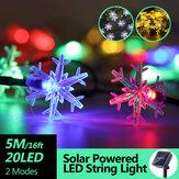 5M 20LED Солнечная Power Fairy String Lights Водонепроницаемы Рождественская праздничная вечеринка Лампа для декора На открытом воздухе