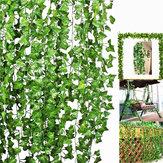 10 Sztuk Sztuczne Bluszczowe Liście Winorośli Liście Paproci Zieleni Rośliny Girlandy Dekoracje Kwiatów Liści