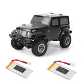 URUAV 2 البطارية 1/24 2.4G 4WD Mini Rc Car Proportional مراقبة ضد للماء Crawler Electric Vehicle RTR نموذج