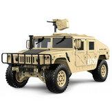 HG P408 Yükseltilmiş Işık Ses Fonksiyonu 1/10 2.4G 4WD 16CH 30 km / saat Rc Modeli Araba US4X4 Kamyon Batarya Şarj olmadan