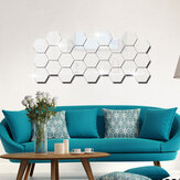 12 piezas 3D pegatinas de pared DIY espejo hexagonal vinilo extraíble calcomanía para la decoración del arte de la sala de estar del hogar