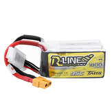 TATTU R-LINE Version 1.0 14.8V 1800mAh 95C 4S Lipo Batterie pour Quadricoptère RC FPV Racing Drone