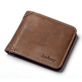 Men Vintage Short Multi-Card Slots Trifold Wallet