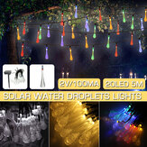 16.4FT 5 M 20LED Luz Solar String Ao Ar Livre Dois Modos Gota de Água Lâmpada de Fadas Jardim Decoração de Natal