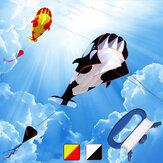 Outdoor 3D Large Kite Whale Software Beach Kite Cartoon Animal Kites Single Line Frameless Enorme con manico Regalo per bambini Famiglia adulta