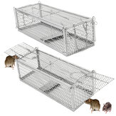 Large Double Entry Mousetrap Rat Spring Cage Trap Human Control Animal Rodent Catcher No Poison