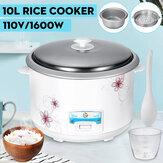 10L 22-cup 1600 W 110 V Otomatik Pirinç Ocak yapışmaz buhar Cook Sıcak Tutmak ABD