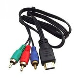 HDMI to 3 RCA Adapter Cable Audio Video AV Cable Adapter Converter Connector Component Wire Lead for HDTV