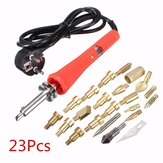 23pcs Wood Burning Soldering Tool Set Pyrography Kit Brass with Tips and Stand