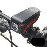 XANES XL04 T6 Bicyclette Phare Électronique Bell Siren Alerte Trompette USB Charge 140DB
