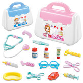 Simulation Pretend Doctor Nurse Role Play Education Toy Set with Carrying Box for Kids Gift