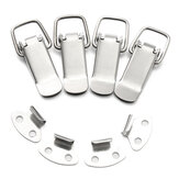 4Pcs 201 Stainless Steel Spring Toggle Latch Catch Hasp Clamp Clip Duck Billed Buckles