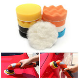 11pcs 4inch Car Sponge Polishing Tool Set Waxing Buffing Cleaning Wash Pad Kit