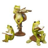 Cute Frog Statue Figurine Home Office Desk Ornament Garden Bonsai Decor Gift