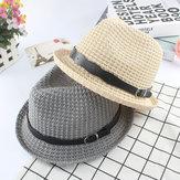 Heren dames Straw Knited Sunscreen Jazz Hat