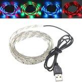 100cm 60 cms 3528 usb LED bande rgb lumière imperméable à l'eau 5v IP65