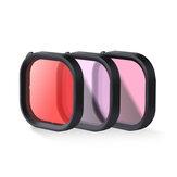 Wasserdichtes Tauchfilterobjektiv in Rot / Lila / Rosa für die GoPro9-Sportkamera
