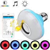 E27 8W Bluetooth Hoparlör RGBW LED Lamba Ampullü Kablosuz Müzik Çalma Uzakdan Kumanda AC110-240V