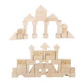 162 Unids Bloques de madera Educativo Juego para niños Aprendizaje Classic Rompecabezas Juguete