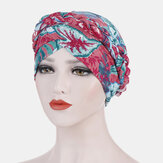 Damen Blumendruck Turban Hut Baumwolle beiläufige Breathable Head Caps