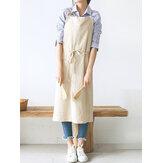 Tabliers en lin pur coton de couleur japonaise