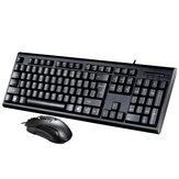Ensemble clavier / souris filaire avec clavier et souris filaire 104 touches avec pavé numérique pour PC Laatop