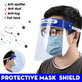 10 sztuk Maska ochronna Nowa regulacja Stretch Maska ochronna HD Maska ochronna przeciwmgielna PET