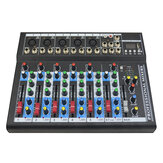 Professional 7 Channel bluetooth Audio Mixer Mixing Sound Console with Reverb 48V Phantom Power for KTV Stage Karaoke