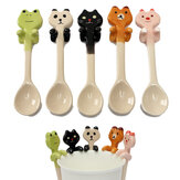 Cute Cartoon Animal Ceramic Hanging Coffee Scoop Milk Tea Soup Spoon Tableware Decor