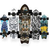 72x20cm Erişkin Longboard Natural Maple Complete Skateboard Double Kick Deck Acemi & Seyir Oymacılığı için Profesyonel Serbest Stil Yokuş Aşağı Maksimum Yük 150kg