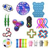 23/24/27 шт. Fidget Bubble Toys Сенсорный набор DIY Декомпрессионный артефакт Fidget Bubble Cube для взрослых девочек Детское выражение эмоций стресс