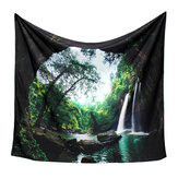 3D Trees Great Waterfall Print Wall Hanging Tapestry Decor Bedspread