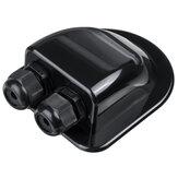 Glândula de entrada de cabo duplo solar Caixa Cabo curvo Conector ABS impermeável para barco de caravana de Rv