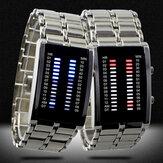 Binary LED Display Men Business Luminous Waterproof Electronic Digital Watches