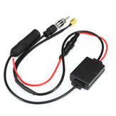 Universal FM AM Car Antenna Aerial Splitter Cable Digital Radio Amplifier Signal Reception