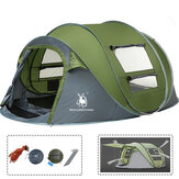 Outdoor 3-4 Persons Camping Tent Automatic Opening Single Layer Canopy Waterproof Anti-UV Sunshade
