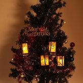 Santa Claus Snowman Jesus Elk Pattern Hanging Christmas Simulation Flame Holiday Night Light Decor