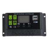 PWM 10A 12V / 24V Auto Solar Panel Solar Controlador de carga Batería Adaptador de carga LCD USB