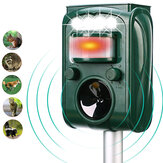 KCASA KC-501 Jardim Solar Powered Ultrasonic Animal Ao Ar Livre Pest Repeller Movimento Sensor Flash Luz Cachorro Gato Guaxinim Coelho Animal Dispeller