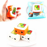 SanQi Elan Squishy Simulerade fyrkantiga sushi långsamma rebound leksaker 6 * 3,6cm Original Packaging Decor Toy