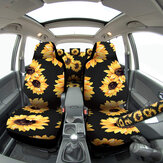 Universal Full Set Car Cover Fashion Sunflower Car Seat Cover With Safety Belt