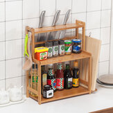 Organizador de armazenamento de bancada de cozinha de prateleira de especiarias 3Tier
